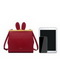 JUST STAR 2020 New Fashion Long Ears Rabbit Cute Girl Shoulder Bag Red
