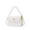 JUST STAR 2021 Spring Hot Sale Pearl Strap Women Casual Shoulder Bag White