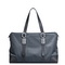 SAMMONS Cowhide Leather Large Capacity Fashion Casual Shoulder Bag Gray