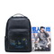 SAMMONS Cowhide Leather 2019 New Winter Fashion Young People Printing Backpack Blue