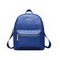 ZHUOLUXUE Cowhide Leather 2016 Fashionable Traveling Backpack Blue