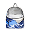 JOLUCY 2017 Famous Painting Pattern Terylene Light Backpack Blue