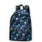 JOLUCY 2017 Sea Printing Pattern Terylene Light Backpack Blue