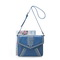 Retro messenger bag Blue