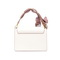 NUCELLE 2021 New Fashionable Romantic Bow Scarf Women Shoulder Bag White
